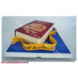 3D British Passport Cake