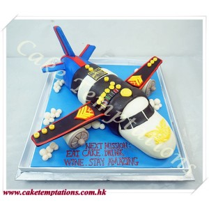 3D Army Uniforms Aircraft Cake
