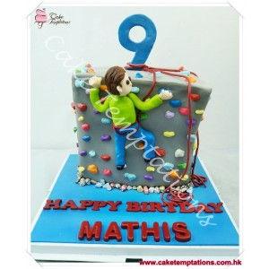 3D Rock climbing birthday cake