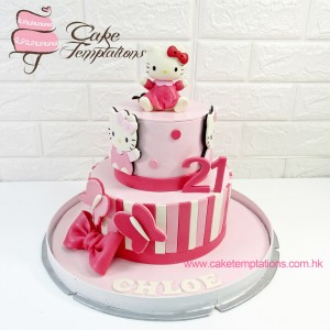 2 Layers Hello Kitty Cake