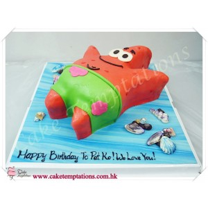 3D SpongeBob Patrick Star Birthday Cake