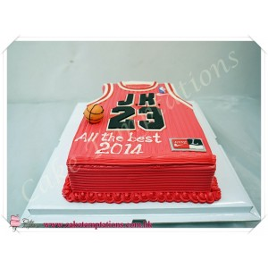 3D Basketball shirt Birthday Cake