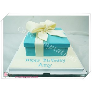 3D Tiffany & Co. Gift Box Cake