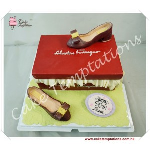 3D Salvatore Ferragamo Vara Pumps Shoes Cake