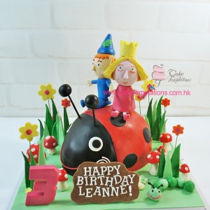 3D Ben & Holly with Lady Bug Cake