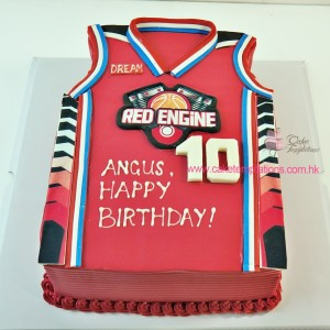 3D Basketball shirt  Cake