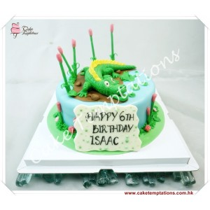 Crocodile theme Birthday cake