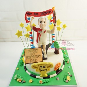 Marthon Cake with Olympic Torch