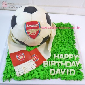 3D Arsenal football cake