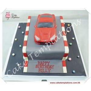Mini Ferrari(Red color) cake