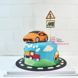 3D Car Themed Cake