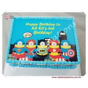 Photo print - Minions(Super Hero) Cake