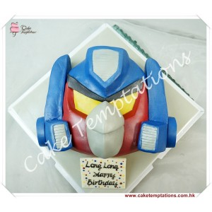 Semi-3D Angry Birds Transformers Head Cake