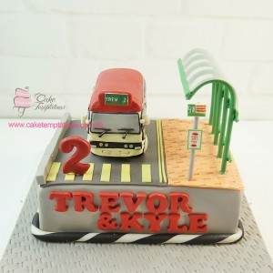 Red Mini Bus Cake