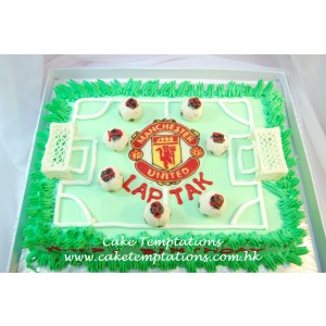 Football Field Cake - Manchester United