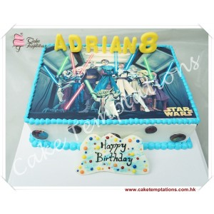 Photo Print - Star Wars Birthday Cake