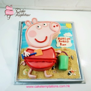 Peppa Pig in the beach