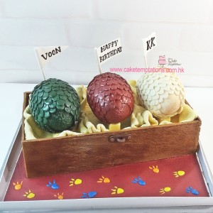 3D Game of The Throne Dragon Eggs Cake
