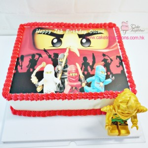 Photo Print - LEGO Ninjago Cake with figure