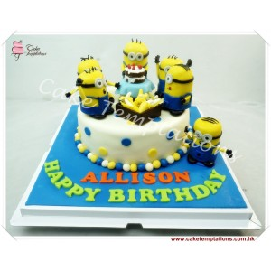 Minions & Banana Birthday Cake