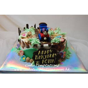 Mini Thomas Train Figure Cake