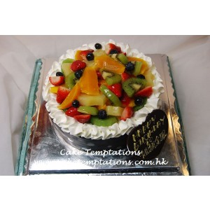 Assorted Fresh Fruit Cake
