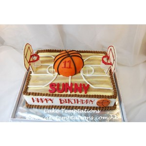 Basketball Field Cake