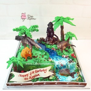3D Amazon Rainforest cake