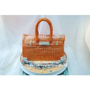 3D Hermes Birkin Handbag (Orange Color)
