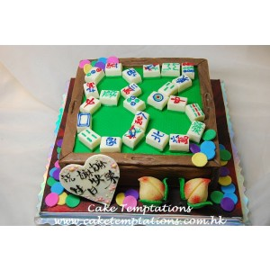 3D Mahjong Table Cake