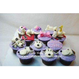 Snoopy Cup Cake