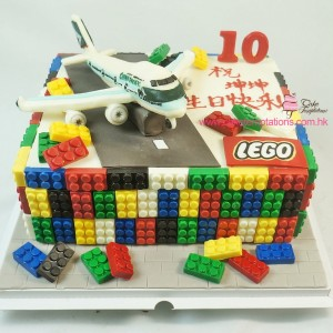 3D LEGO Airplane Cake