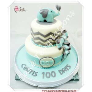 2 Layers 100 days celebration cake