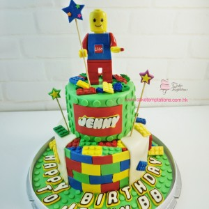 2 Layers Lego Classic cake