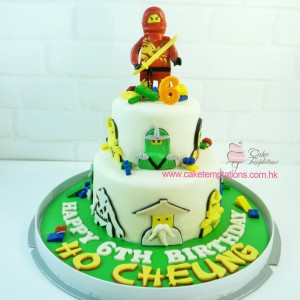 2 Layers LEGO Ninjago Red Ninja Cake