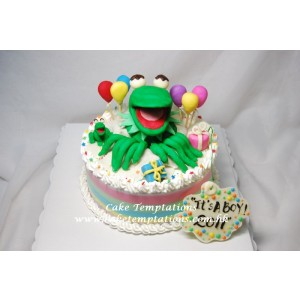 Seasame Street Friends - 3D Kermit Cake