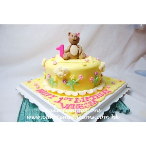 Little Cute Teddy Bear Cake