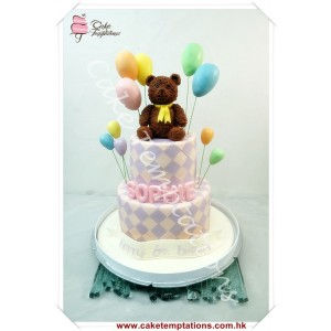 Litter Bear 2 Layers Birthday Cake