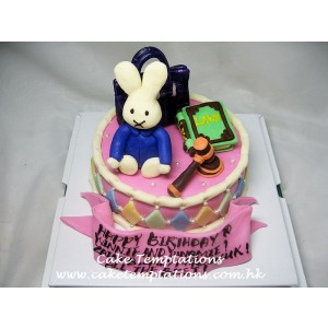 Mini Miffy, Handbag & Lawbook With Gavel Cake