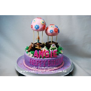 Toystory Happy Balloons Birthday Party Cake