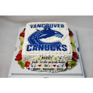 Canucks Logo Cake