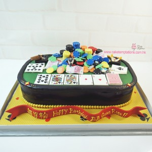 3D Poker table cake
