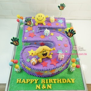 Mr. Happy & Ms Sunshine  Birthday Cake