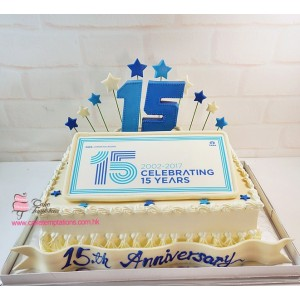 Amazon  papyrus 15th anniversary celebration cake
