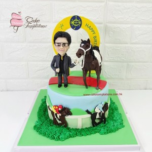 3D Winner Horse and Horse Owner Cake