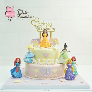 2 layers heart pattern princess cake