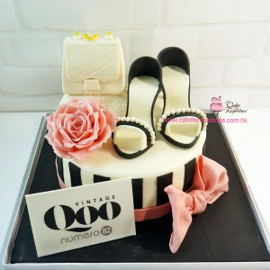CHANEL Handbag With High Heel Cake
