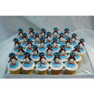 Penguin cartoon Cup Cake