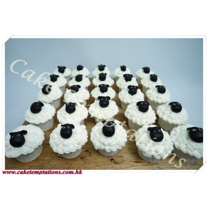 Cute Baby Sheep Cupcake