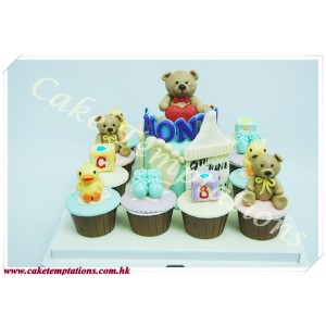 Teddy Bear Cupcakes Set